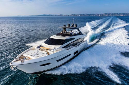 The Ferretti Group's historic brand founded in 1968, creates exceptionally luxurious, first-class yachts. Every model in the Ferretti Yachts fleet is a union of design, comfort and safety with high-tech innovation